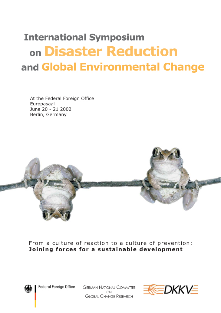 Cover Broschuere Disaster Reduction