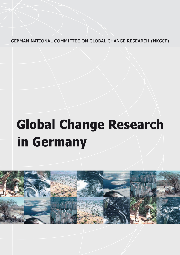 Cover Broschuere Global Change Research in Germany 2005