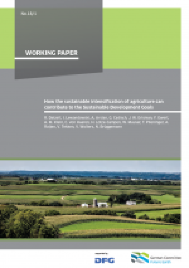 DKN Paper 3 contribution of agriculture to SDGs